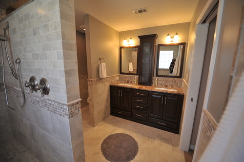 Our new master bathroom it 39 s perfect for us for Perfect master bathroom
