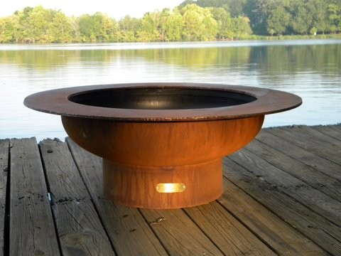 Saturn Gas Firepit traditional-fire-pits