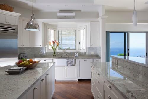 River White Granite White Cabinets Backsplash Ideas