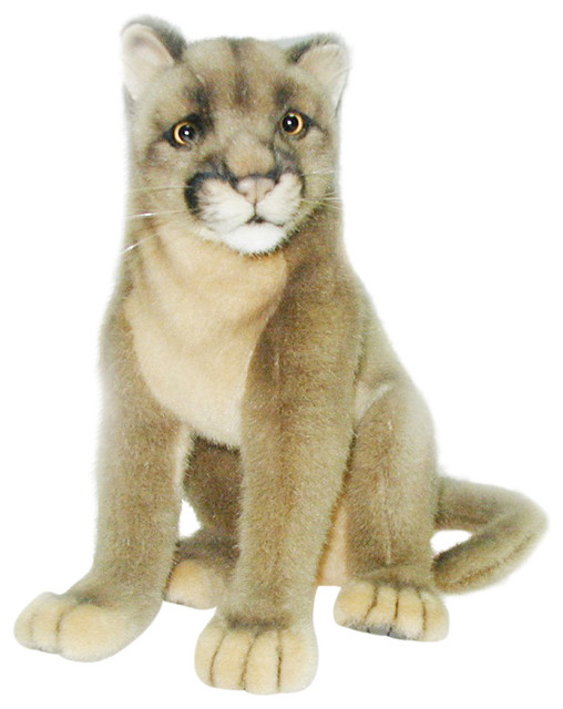 Hansa Plush Mountain Lion Cougar - Traditional - Kids Toys And Games - by Sunny Bears