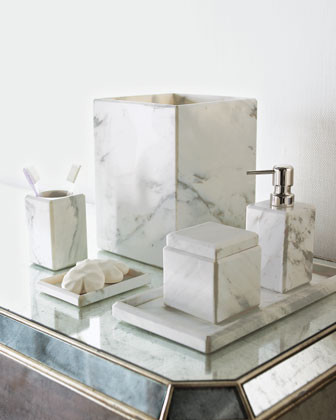 Waterworks studio marble soap dish traditional for Marble toilet accessories