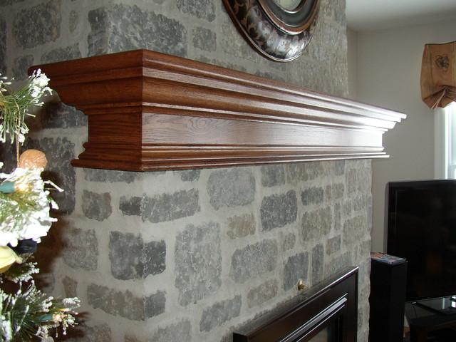 Oak Fireplace Mantel Shelf Modern Indoor Fireplaces Toronto By - Modern Fireplace Mantel Shelf