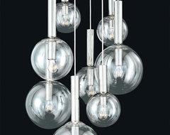 Sonneman Bubbles 8-Light Pendant modern-pendant-lighting
