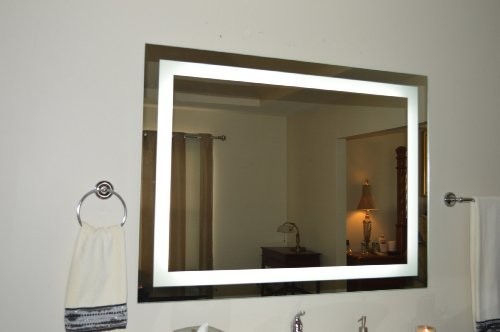 Modern Led Lighted Wall Mounted Vanity Mirror Round Shape: Wall Mounted Lighted Vanity Mirror LED Modern-bathroom-mirrors