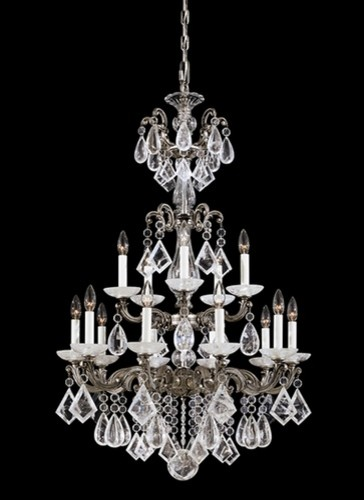 Schonbek 5410-75 La Scala Rock Crystal Heritage Handcut Clear Chandelier traditional-chandeliers
