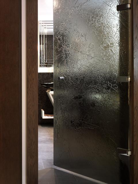 Textured glass door - Contemporary - Shower Doors - london - by Float Glass Design