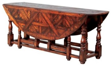 Gateleg Parquet Top Drop Leaf Dining Table modern-dining-tables