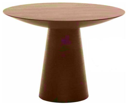 Dania Small Tan Walnut Dining Table By Nuevo HGEM252 Modern Dining