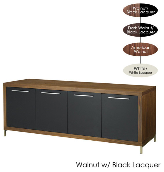 Silva Buffet, Walnut with Black Lacquer contemporary-buffets-and-sideboards