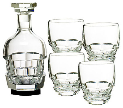 Baccarat Abysse Bar Set Decanter 14 2/3 H transitional-wine-and-bar-tools