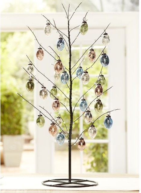 Easter Jeweled Tree - Contemporary - Holiday Decorations - by Pottery Barn