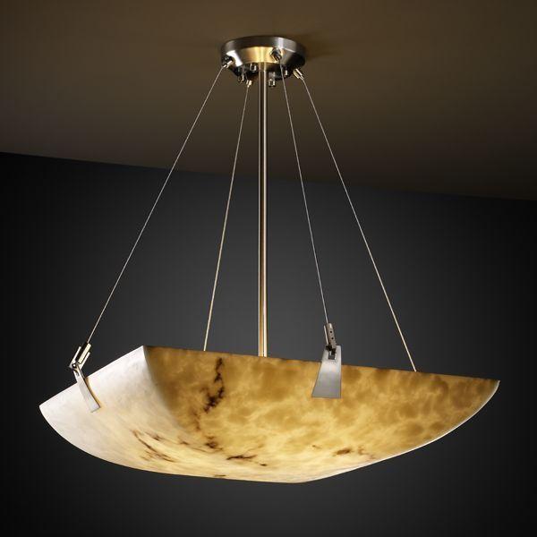 "Justice Design FAL-9644-25-NCKL 36"" Pendant Bowl w/ Tapered Clips Lumenaria pendant-lighting"