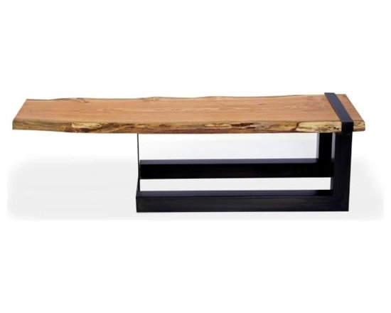 Urban Tree Salvage - Reclaimed Live Edge Honey Locust Slab Cantilever Coffee Table - WWW.URBANTREESALVAGE.COM            647.438.7516
