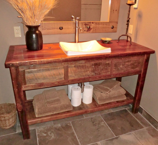 Furniture Sink Vanity : Rustic Furniture Portfolio rustic-bathroom-vanities-and-sink-consoles