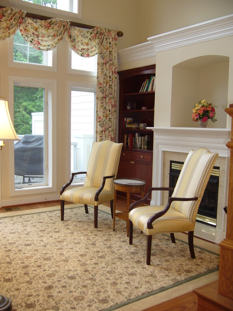 Custom Area Rug English Floral Design Transitional