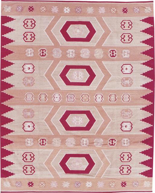 "Kilim K412 8'6"" x 11'6"" Toast Rug contemporary-rugs"
