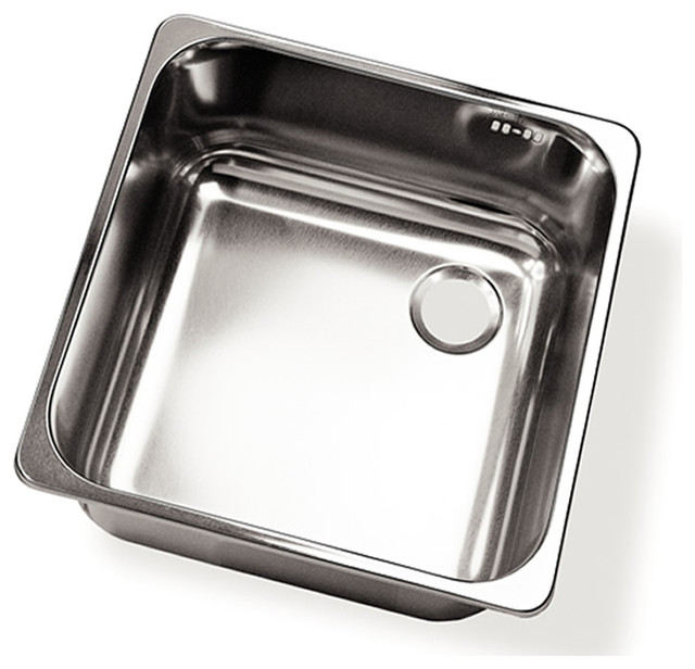 Ronda Square Sink  For Outdoor Kitchen - Right Drain traditional-outdoor-products