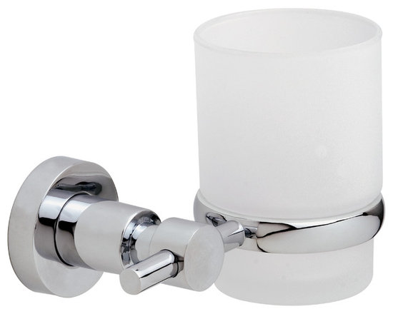 """nie wieder bohren - Germany - no drilling required Bath Hardware by nie wieder bohren Germany, Glass Tumber - The LOXX series Glass Tumbler by nie wieder bohren Germany includes the patented no drill mounting system designed specifically for tile, natural stone, glass, metal, wood and acrylic and plastics. The system installs without any tools, in literally a minute and holds up to 35lbs. The nie wieder bohren mounting system can be used indoor or out and in wet or dry environments. The mounting system carries a Lifetime Warranty and can be removed if needed with no damage to your fine surfaces. """"An optional patented no drill mounting system for drywall is available on request. After placing your order, please click the """"Contact Seller"""" button to message the vendor your request for the no drill mounting system."""""""