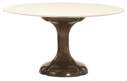 Jacques Garcia Lucky Pedestal Dining Table eclectic-dining-tables