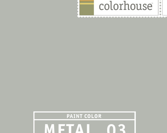 Colorhouse METAL .03 - METAL .03 is our coolest gray yet. Make it the background for a steel blue velvet sofa and take cool to the next level.