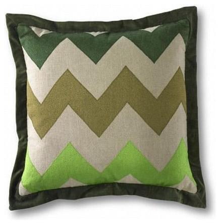 Mr Brown Schulz Pillow-Green contemporary-decorative-pillows
