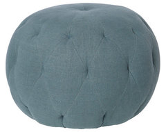 Pouf 26 in Round Ottoman eclectic-ottomans-and-cubes