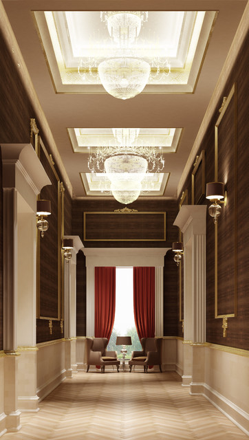 Private villa interior design dubai uae traditional for One agency interior design dubai