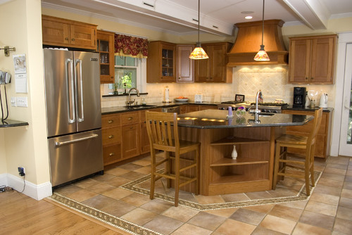 We Are Thinking Of Mixing Hardwood Flooring With Tiles