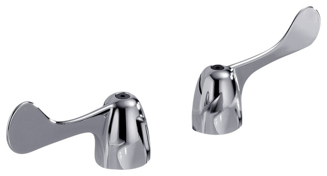 Two Wrist Blade Handles with Screws in Chrome contemporary-bath-products
