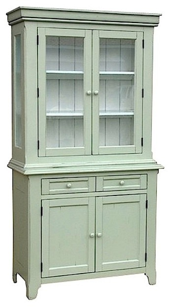 Trade Winds Furniture Green Provence Hutch contemporary-buffets-and-sideboards