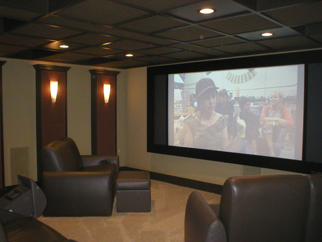 Paul and Judy Smith modern-home-theater