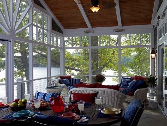 Weekend Lake Retreat traditional-porch