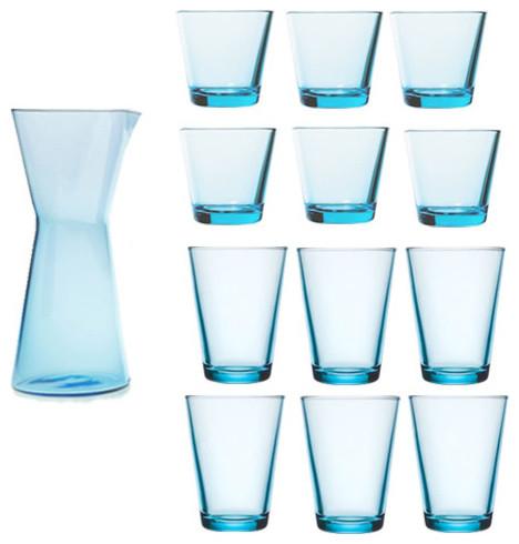 iittala Kartio 13-piece Glassware Set - Modern - Everyday Glasses - by FinnStyle