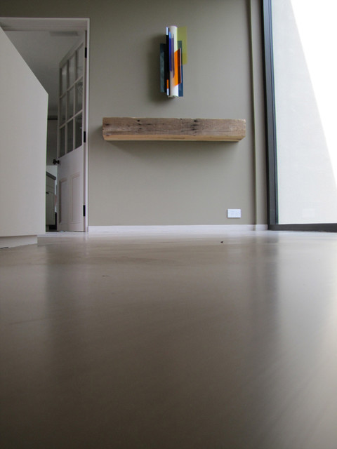 concrete floor modern flooring new york by