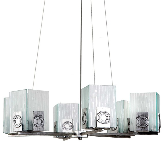 Varaluz Recycled Polar Chandelier - Six Light chandeliers