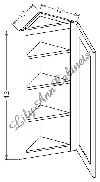 RTA Rope Wall Cabinets AW1242 - Wall End Angle Cabinet - Mediterranean - Kitchen Cabinetry ...