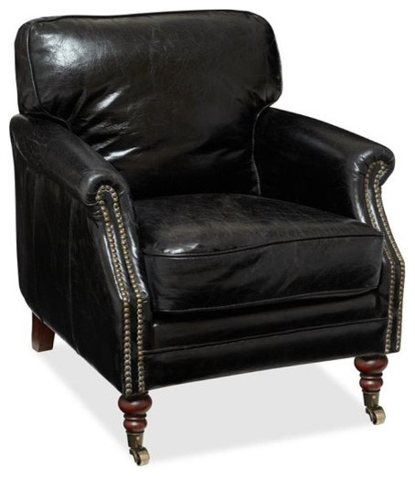 Bilson Leather Club Armchair Traditional Armchairs And
