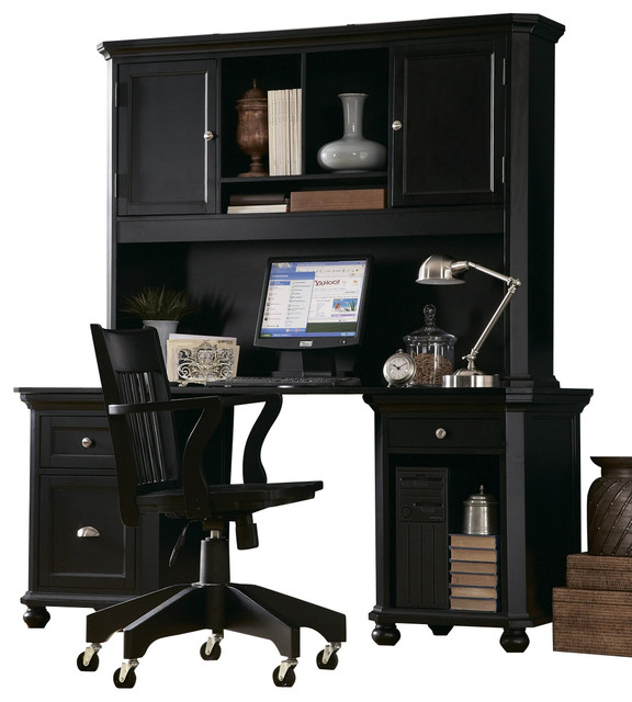 Homelegance Hanna 2 Piece Kids' Desk Set in Black - traditional