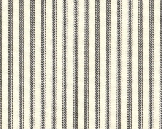 """Close to Custom Linens - 15"""" Twin Bedskirt Tailored Brindle Gray Ticking Stripe - A traditional ticking stripe in brindle gray on a cream background."""