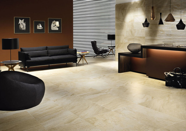 Mrble or Porcelain? contemporary-wall-and-floor-tile