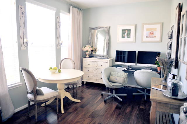 Rustic Chic Home Office by Amanda Carol Interiors traditional-home-office