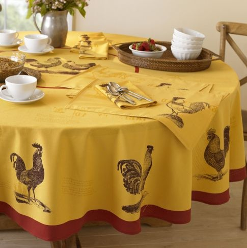 farmhouse rooster tablecloth contemporary tablecloths by