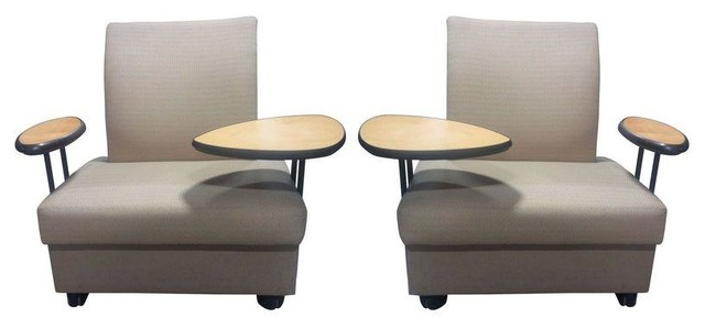 Used Metro Tablet Arm Lounge Chair A Pair Contemporary Desks And Hutche