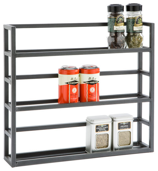 Iron Spice Rack Traditional Spice Jars And Spice Racks