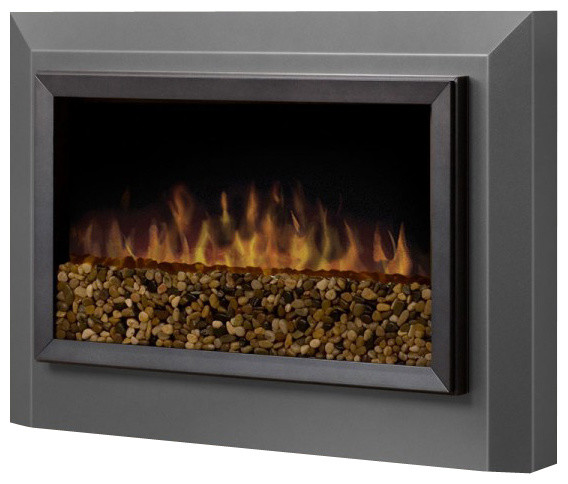 Dimplex Pelham Wall-Mount Electric Fireplace in Pewter Grey modern-indoor-fireplaces