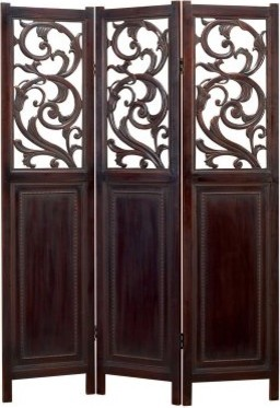 Cherry Brown Room Divider modern-screens-and-room-dividers