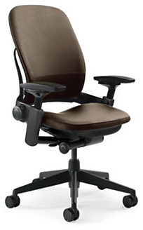 Steelcase Leap Chair With Leather Fabric Rocky Contemporary Office Chair
