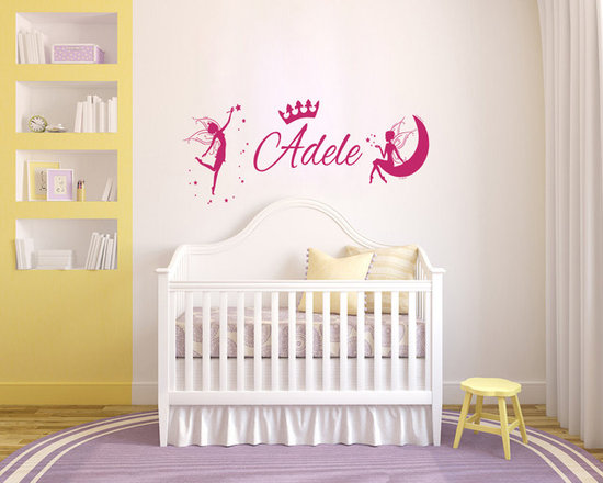 Vinyl Decals Custom Personal Name Tinkerbell Crown Home Wall Art Decor Removable -