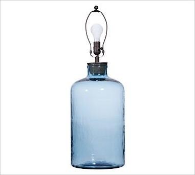 glass cylinder table lamp base light blue traditional lamp bases. Black Bedroom Furniture Sets. Home Design Ideas