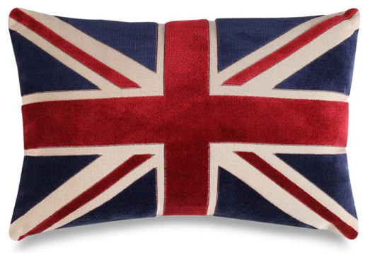 Union Jack Decorative Toss Pillow Traditional